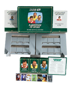 A Question Of Sports 1986 BBC Board Game 99% Complete Missing Tyson Card