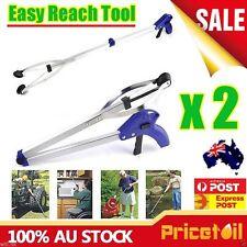 2X Foldable Pick Up Gripper Grabber Reacher Kitchen Litter Picker Help Hand Tool