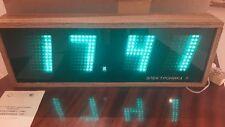 NEW HUGE USSR SOVIET Wooden Wall Clock ELEKTRONIKA 7-06k VFD Tube IV-26 Nixie
