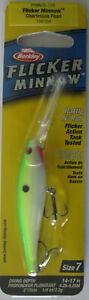 "Berkley FLICKER MINNOW - Size 7 - 1/4 oz. - 3"" - Chartreuse Pearl"