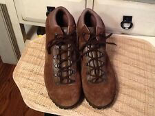 Vtg Dunham Tyroleans Hiking Boots Women's 9 M Brown Suede Leather Made In Italy!