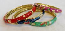 Cloisonne Esmalte con bisagras brazalete/pulsera-Nuevo Y En Caja-Varios Colores