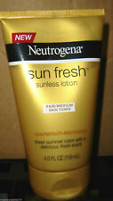 1 Neutrogena Sun Fresh Sunless Lotion, Fair/Medium Skin Tones, Fresh Scent, 4 oz