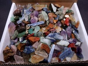 Crafters Collection Small Stones 1 Lb Mix Box Set Natural Gems Crystals