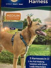 New listing PetSafe 3In1 Pet Harness Medium Teal
