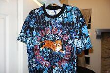 H&M x Kenzo T-Shirt With Appliqués Blue Flower Men's Size Medium