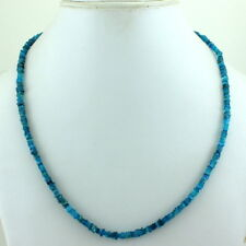 925 SOLID STERLING SILVER NATURAL NEON APATITE BEADS GEMSTONE NECKLACE 15 GRAMS