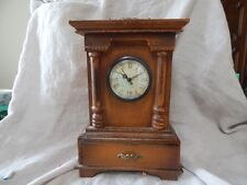 Vintage Style Wooden Mantel Clock with Drawer 11""