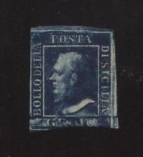 ANTICHI STATI SICILIA 10 GR. AZZURRO CUPO NUOVO CORTO IN BASSO CAT.€.1.650 (569)