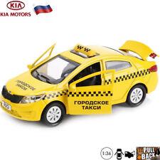 Kia Rio Russian Taxi Diecast Car Scale 1:36 Die-cast Model Toy Cars