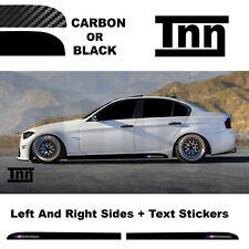 Side Skirt Stickers For BMW E90 E91 E92 3 Series M Performance Black Or Carbon