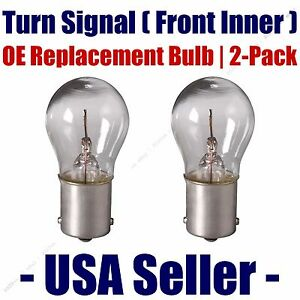 Front Inner Turn Signal Light Bulb 2pk - Fits Listed BMW Vehicles - 7506