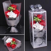 1 Bouquet Artificial Soap Rose Flower Valentine Mother Day Gift Wedding Decor uk