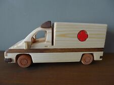 Ambulance high quality wooden toy, vintage style, handmade 00004000 , handcrafted