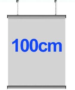 5X PAIRS 100cm  Aluminium Poster Hanger Gripper Hanging Rail