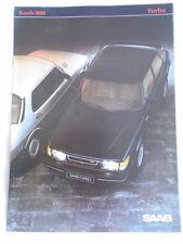 SAAB 900 Turbo Opuscolo 1983 mercato del Regno Unito