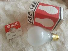 1 x GE B22d-3 BC-3 25V 40W 3 Pin Brass Cap PEARL Light Bulb Lamp Vintage RARE UK