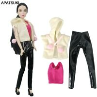White Hoodies Tops Long Pants Outfits For Barbie Dolls Clothes for 1/6 BJD Dolls