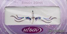 Bindi violet dore bijoux de peau mariage autoadhesif strass front sourcils 3438