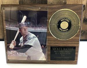 MICKEY MANTLE record breaker Plaque Ltd 100 Of 2,415 see photo & description