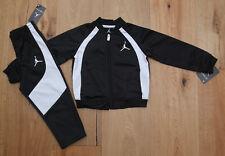 Air Jordan Toddler Boy 2 Piece Jogging Set ~ Tracksuit ~ Black & White ~ Jumpman