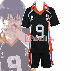Haikyu No.9 Tobio Kageyama School UniformVolleyball Jersey Cosplay Costume