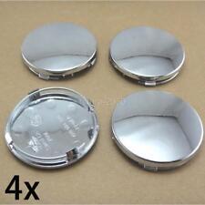 "4 pcs wheel rim center cap caps insert cover 2.25"" 2-1/2"" 60mm Chrome Silver"