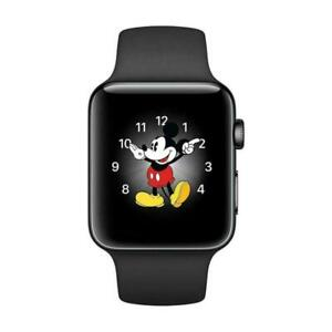 Apple Watch Series 2 - 42mm - Black/Gray Aluminum Case / Sport Band - Smartwatch