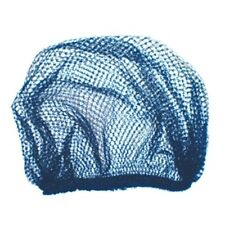 Disposable hair nets in two colours black & Blue 100 nets per bag