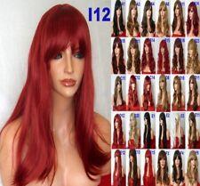 Synthetic real feel Hair Full Fashion Costume Black Brown Blonde Copper Aurburn