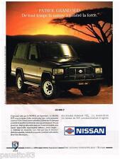 PUBLICITE ADVERTISING 095  1991  NISSAN  le PATROL GRAND SUD