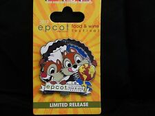 Walt Disney 2012 Epcot International Food and Wine Festival pin (Chip and Dale)
