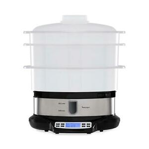 3 Tier Steam Cooker 9L Digital Steamer Cooker 800W