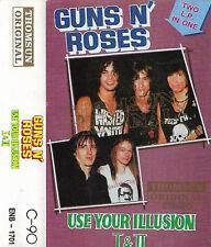 Guns N' Roses Use Your Illusion I  & II  CASSETTE ALBUM IMPORT THOMSUN ORIGINAL