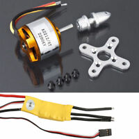 2200KV Brushless Electric Motor 2212-6 30A ESC Rotor RC Flying Wing Plane Drone