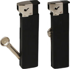 """"""" Cosa """" Pipe Lighter - Black - With Integrated Tamper - New - 224853"""