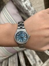 Ladies Rolex Oyster Perpetual Datejust Watch 6517 Stainless Steel 26mm