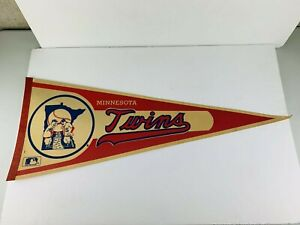 VINTAGE 1960's OR 70'S Minnesota Twins Win Twins Full Size 29 Inch Pennant FLAG
