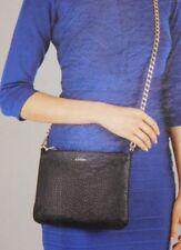 LODIS Italian Leather Women's Crossbody Clutch Wristlet or Short Shoulder Bag
