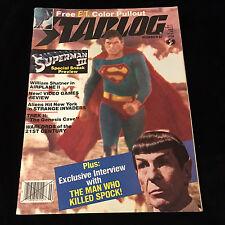 VINTAGE STARLOG MAGAZINE-SUPERMAN 3-STAR TREK 2-THE WRATH OF KHAN-E.T. POSTER