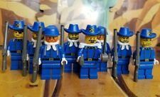 LEGO Vintage Western Cavalry Cival War Soldiers 8 Minifigure Lot 6769 6716 6765