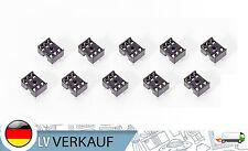 10Stück 6-Pin DIL DIP IC Mikrochip Sockel socket für Arduino Prototyping