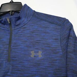 Under Armour Threadborne Heatgear Sweat Shirt Track Jacket Size Large Perforated