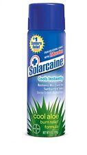 Lot 2 Solarcaine Spray Cool Aloe Burn Relief Lidocaine Moisture 6 oz cans Bayer