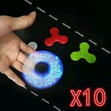Al por mayor 10 un./lot LED luz de mensaje palabra patrón intranquilo mano Spinner dedo