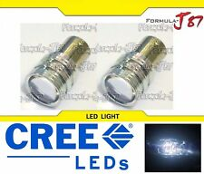 CREE LED Light 5W BA15D White 5000K Two Bulbs Turn Signal DRL Daytime Replace