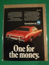 1973 Plymouth Duster 340 Magazine Advertisement