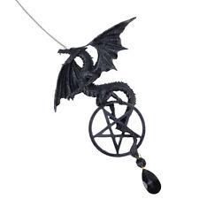 Western Dragon Pentagram Dreamcatcher Windchime Wicca Dream Catcher Gothic Decor