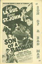 Son of a Badman (1949)  Lash La Rue, Al St. John, Michael Whalen pressbook