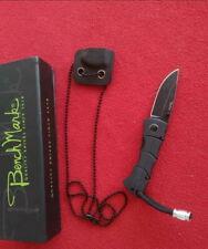 Couteau de Cou Pliant Lame Acier Inox Manche G10 Etui Kydex BenchMark BMK067
